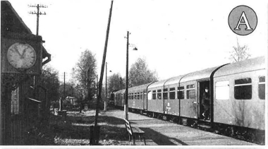 Historisches Bild vom Haltepunkt Gunzen